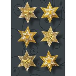 Weihnachts-Sticker 3D Handmade Golden Fever