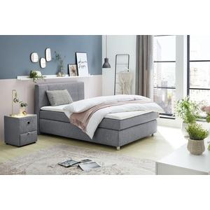 Boxspringbett, grau, 140x200cm, Jockenhöfer Gruppe