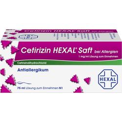 CETIRIZIN HEXAL Saft bei Allergien 75 ml