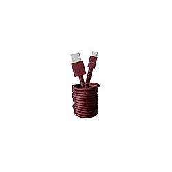 FRESH 'N REBEL Fabriq USB auf USB-C Kabel 3 0m  Ruby Red