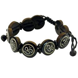 Guru-Shop Armreif Buddhistisches Armband OM - braun Modell 8