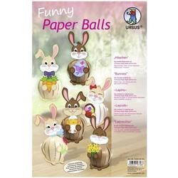 Funny Paper Balls 'Häschen' Set für 12 Funny Paper Balls