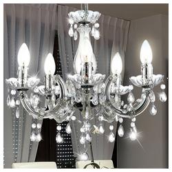 etc-shop Kronleuchter, LED Kronleuchter Decken- Hänge- Pendel- Lampe Design Leuchte Luster Lüster Beleuchtung Kristall-Dekor Wohn- Ess- Zimmer