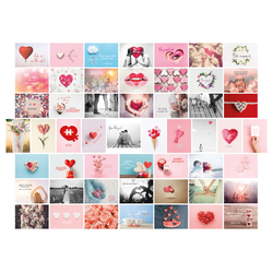 Postkarten Hochzeit 52 Wochen Set mit 52 Liebespostkarten DIN A6 für Hochzeitsspiel