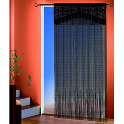 Fadenvorhang Adele, Stangendurchzug (1 Stück), Fadenvorhang mit Bordüre