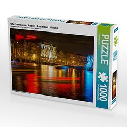 Reflexionen an der Amstel - Amsterdam / Holland Lege-Größe 64 x 48 cm Foto-Puzzle Bild von Christian Dorn Puzzle