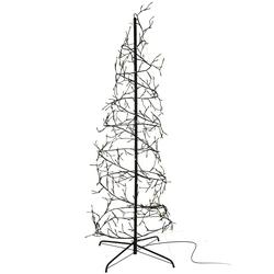 Spiralbaum 360 LED Baum warmweiß - 150 cm Weihnachtsbaum Weihnachtsbeleuchtung innen & außen IP44