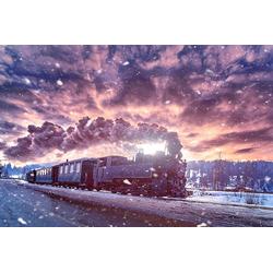 DesFoli Poster Dampflok Eisenbahn P2125 40 cm x 30 cm