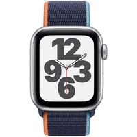 Apple Watch SE GPS + Cellular 40 mm Aluminiumgehäuse silber, Sport Loop dunkelmarine