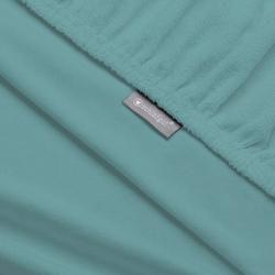 Massageliegenbezug Therapieliege, Schlafgut, MADE IN GREEN by OEKO-TEX® blau 80 cm x 195 cm