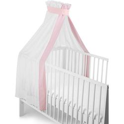 Sterntaler® Betthimmel weiß-rosa, für Kinderbett