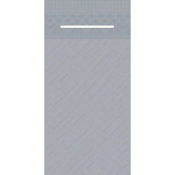 Mank UNI Pocket-Napkins Besteckservierttentasche, 40 x 40 cm, 1/8 Falz, 4-lagig, Farbe: grau, 1 Karton = 4 x 75 Stück = 300 Serviettentaschen