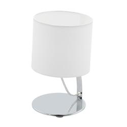 Nambia 1 LED Tischleuchte Ø 15cm 480lm Chrom, Weiß