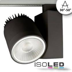 3-PH Schienen-Strahler schwarz matt 35W fokussierbar 30° bis 50° neutralweiß 4500lm EEK: A++