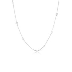 Elli Perlenkette Elegant Basic Süsswasserzuchtperlen 925 Silber silberfarben