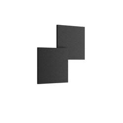 Puzzle Outdoor Double Square Wandleuchte - Anthrazit Schwarz