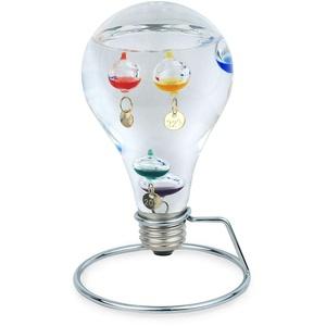 SIGRIS Decor and Go Galileo Thermometer Glühbirnenform Geschenk Briefbeschwerer Kollektion verschiedene
