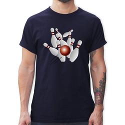 Shirtracer T-Shirt Kegeln alle 9 Kegeln Kugel - Herren Premium T-Shirt XXL