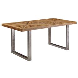 FineBuy Esstisch 120 x 60 cm Esszimmertisch Natur Küchentisch Holz Massiv Tisch