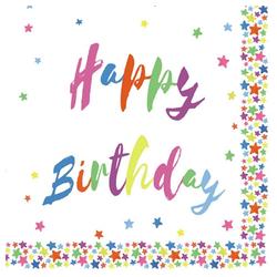 Linoows Papierserviette 20 Servietten Kinderfeier, Geburtstag, Happy Birth, Motiv Kinderfeier, Geburtstag, Happy Birthday