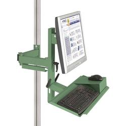 Manuflex ZB8288.6011 Ergonomie Monitorträger für CANTOLAB und ALU mit Tastatur- und Mausfläche, V
