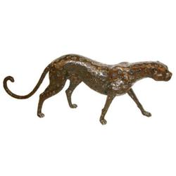 Casa Padrino Luxus Bronzefigur Gepard 140 x 20 x H. 58 cm - Luxus Qualität