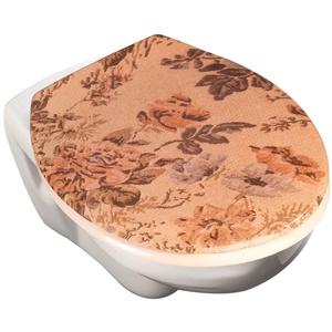 WENKO 78230500 WC Sitz Gobelin, Kunststoff - Duroplast, 45.5 x 4 x 38.5 cm, Mehrfarbig