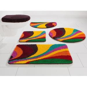 Bruno Banani Badematte Welle, Höhe 20 mm, rutschhemmend beschichtet, fußbodenheizungsgeeignet-strapazierfähig bunt Gemusterte Badematten