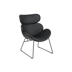 ebuy24 Relaxsessel Cazy Sessel in schwarzen Kunstleder und schwarzen