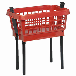 LOCKWEILER Wäschekorb mit Füßen rot, 65 cm