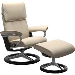 Stressless® Relaxsessel Admiral (Set, Relaxsessel mit Hocker), mit Hocker, mit Signature Base, Größe M & L, Gestell Schwarz natur 93 cm x 113 cm x 79 cm