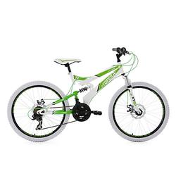"""Jugendfahrrad Mountainbike Fully 24"""" Topeka Fahrräder weiß"""