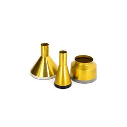 Kayoom Vase Culture 120 in gold-weiß-schwarz-grau, 3er-Set