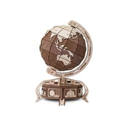 Eco Wood Art 3D-Puzzle Globus - braun – mechanischer Modellbausatz aus Holz, Puzzleteile