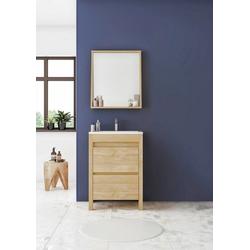 Allibert Badmöbel-Set One, (3-tlg), Breite 60 cm, mit Softclose-Funktion, Waschbecken aus hochwertiger Keramik