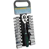 Brüder Mannesmann Werkzeuge Werkzeugset Steckschlüsselsatz, 22-tlg., zöllige und metrische Einsätze