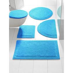 Badteppich , wendbar blau ca. 50/80 cm, halbrund