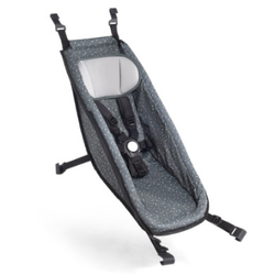 CROOZER Babysitz Graphite blue/white