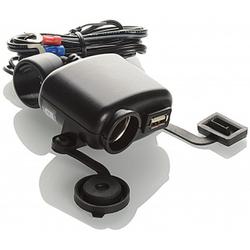 Booster USB+DC12/24V Voeding, zwart, Eén maat