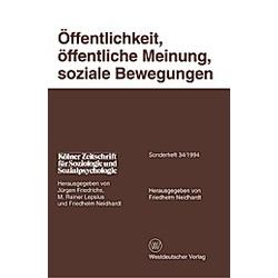 Öffentlichkeit  öffentliche Meinung  soziale Bewegungen - Buch