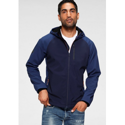 Superdry Softshelljacke HOODED SOFTSHELL blau M (46)