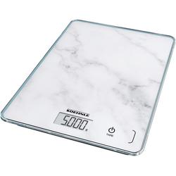 Soehnle Küchenwaage Page Compact 300 Marble, Tragkraft 5 kg, 1 g genaue Teilung