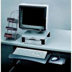 Tastaturschublade verstellbar grafit