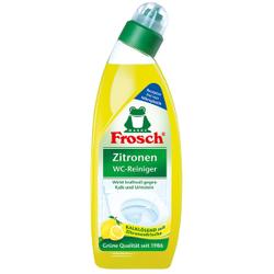 Frosch Zitronen-WC-Reiniger, Kraftvoller Toilettenreiniger mit Zitronensäure für eine hygienische Toilette, 0,75 Liter - Flasche