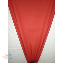 Deko Stoff Vorhang Panama rot uni blickdicht, Reststück 5,7 m