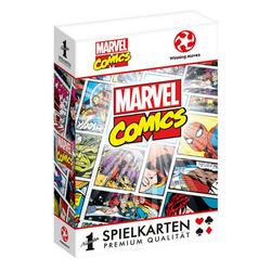 Winning Moves Spiel, Kartenspiel Number 1 Spielkarten Marvel Retro, inkl. 2 Joker
