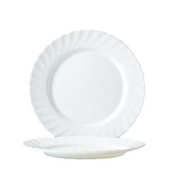 Arcoroc Speiseteller Trianon Uni, Teller flach 24.5cm Opalglas weiß 6 Stück Ø 24.5 cm x 2.4 cm