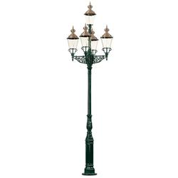 Casa Padrino Gartenlaterne Grün / Kupfer Ø 103 x H. 375 cm - Nostalgische Gartenlampe