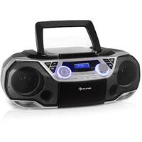 Auna Roadie 2K Boombox CD-Player silber