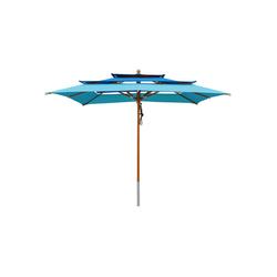 anndora-sonnenschirm Sonnenschirm Sonnenschirm 3-lagig 3x3m - Farbwahl blau